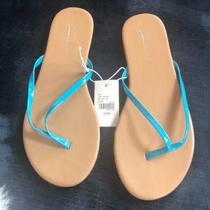 Aqua thong flip-flops